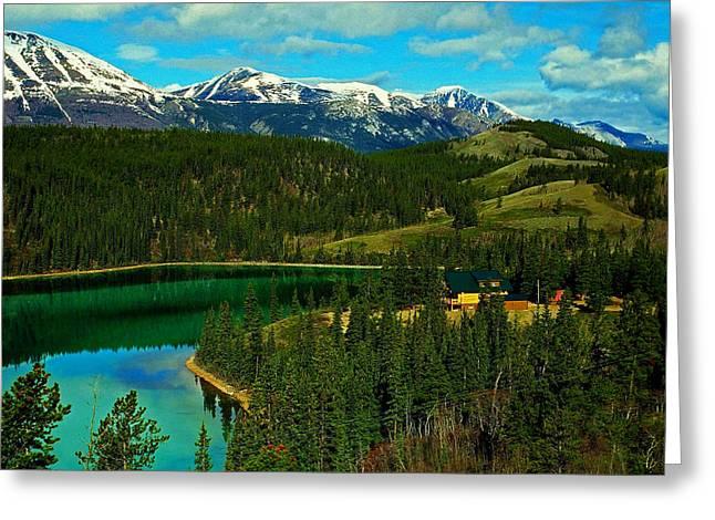 Emerald Lake - Yukon Greeting Card