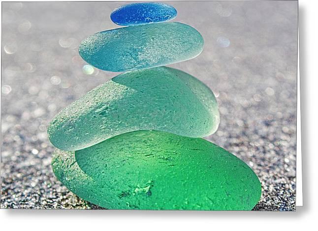 Emerald Light Greeting Card by Barbara McMahon
