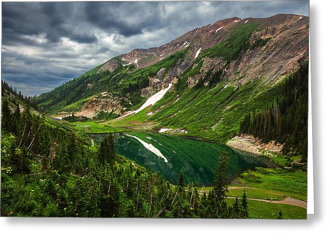 Emerald Morning Greeting Card by Darren  White