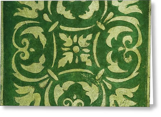 Emerald Mosaic Greeting Card