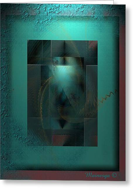 Emerald Rain Greeting Card by Ines Garay-Colomba