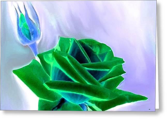 Emerald Rose Watercolor Greeting Card