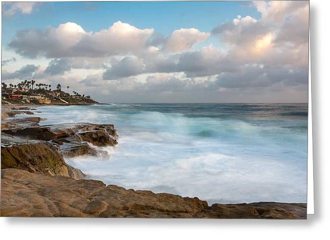 Emerald Waters - Blue Skies Greeting Card by Peter Tellone