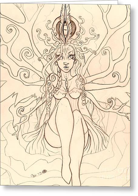 Emergence Sketch Greeting Card by Coriander  Shea