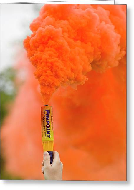 Emergency Flare Greeting Card by Ashley Cooper