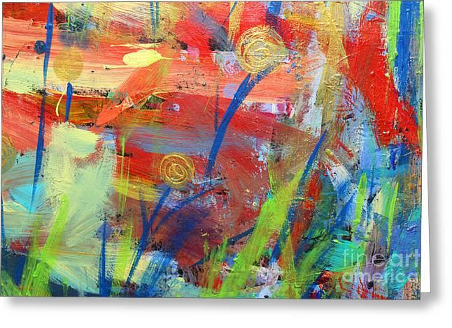 Emerging Blooms Greeting Card