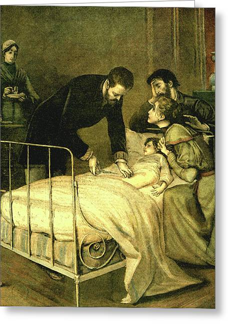 Emile Roux Treating Croup Greeting Card