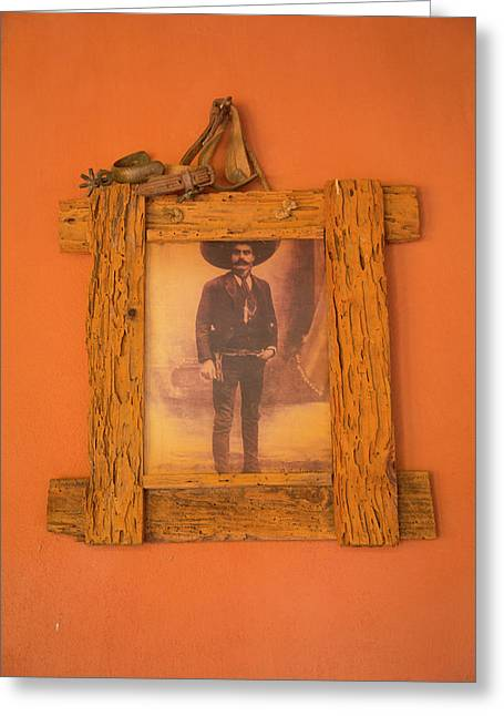 Emiliano Zapata Photograph, El Tuito Greeting Card by Douglas Peebles