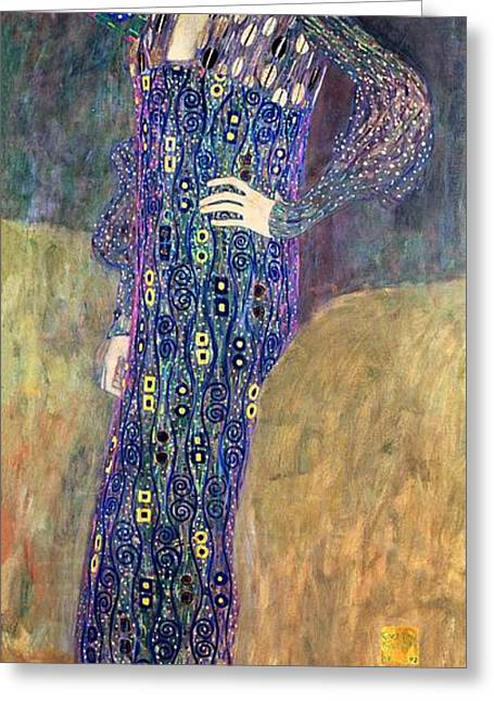 Emilie Floege Greeting Card by Gustav Klimt