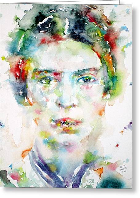 Emily Dickinson - Watercolor Portrait Greeting Card