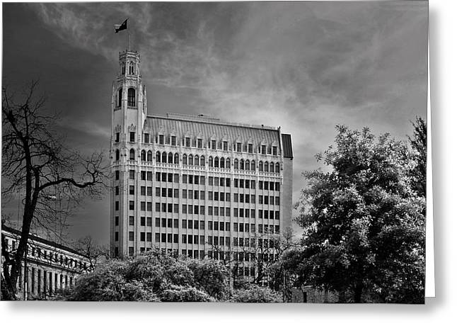 Emily Morgan Hotel San Antonio Tx Greeting Card by Christine Till