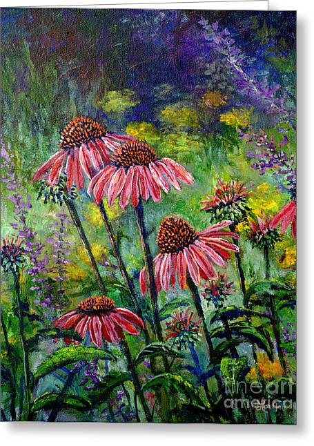 Greeting Card featuring the painting Emily's Flowers by Lou Ann Bagnall