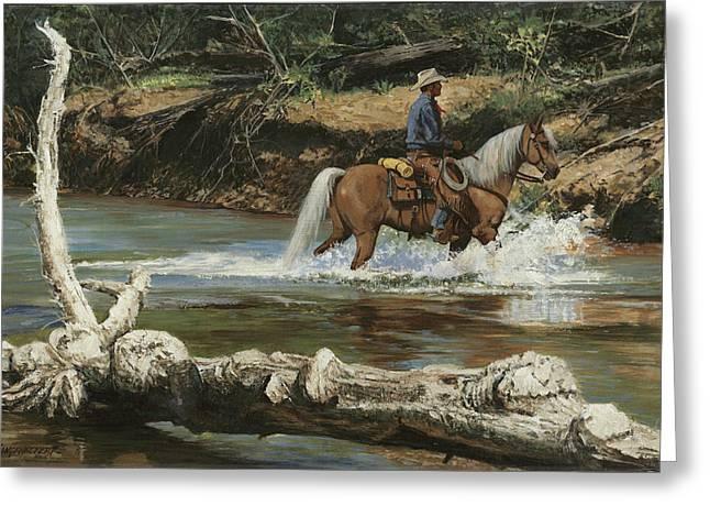 Palomino Crossing Big Creek Greeting Card