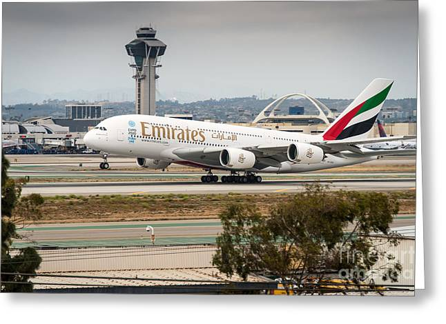 Emirates A380 Greeting Card