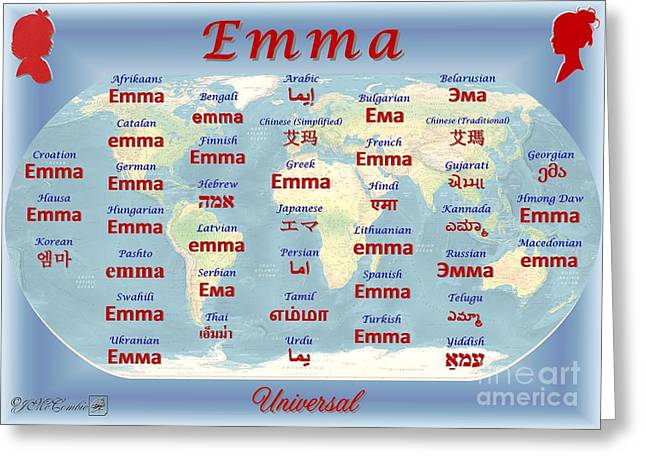 Emma Greeting Card by J McCombie
