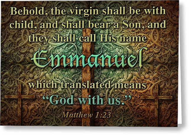 Emmanuel God With Us Greeting Card