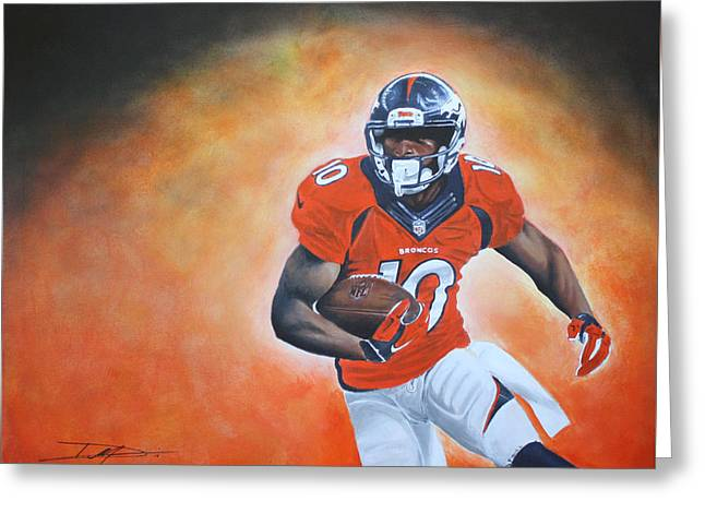 Emmanuel Sanders Greeting Card by Don Medina