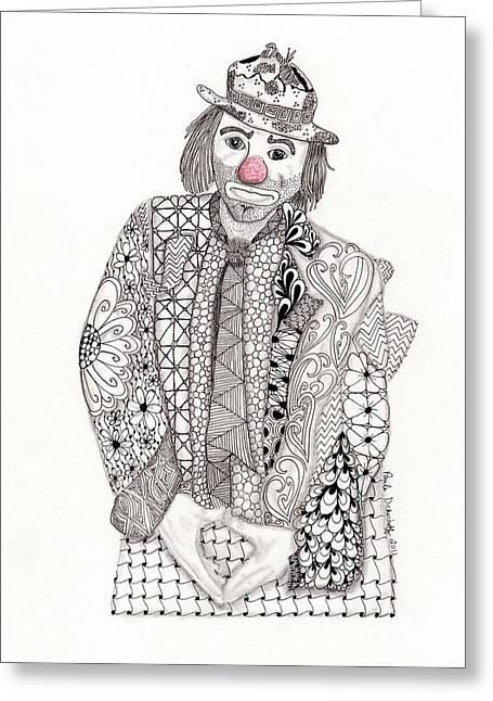 Emmett At The Fair Greeting Card by Paula Dickerhoff