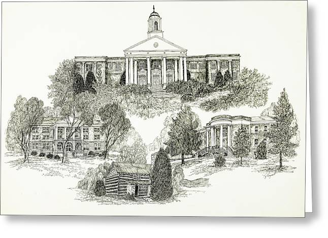 Emory And Henry College Greeting Card by Jessica Bryant