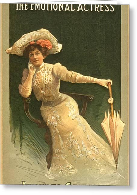Emotional Actress 1906 Greeting Card