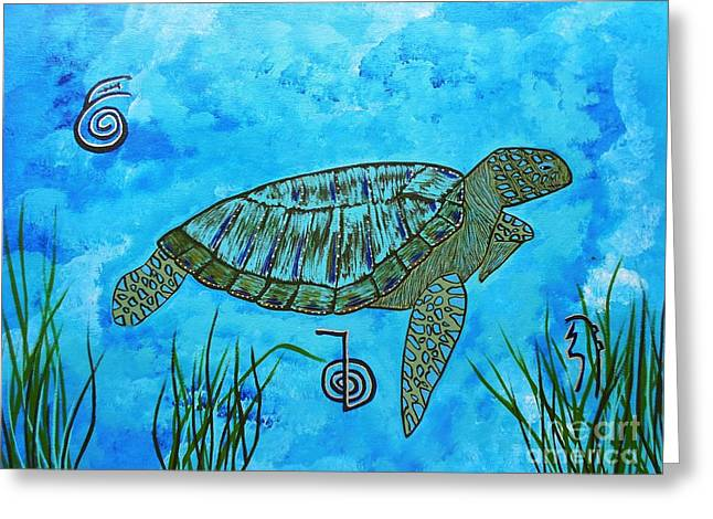 Emotional Healing With The Sea Turtle Greeting Card