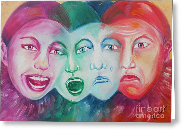 Emotions Greeting Card by Melanie Alcantara Correia