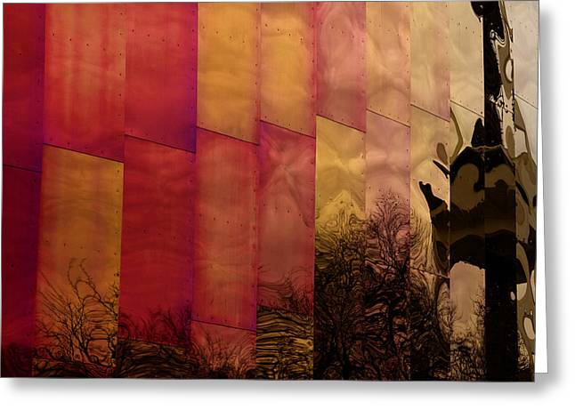 Emp Seattle Reflections  Greeting Card by Joanna Madloch