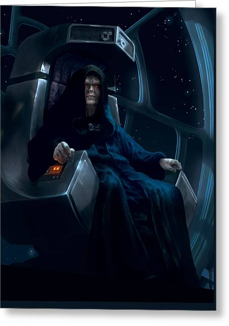 Emperor Palpatine Greeting Card