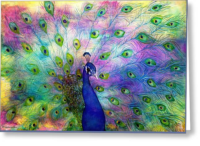 Emperor Peacock Greeting Card by Janet Immordino