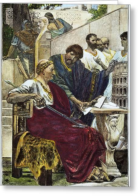 Emperor Vespasian (9-79 A.d.) Greeting Card