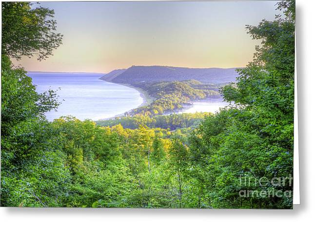 Empire Bluff Trail Overlook Greeting Card by Twenty Two North Photography