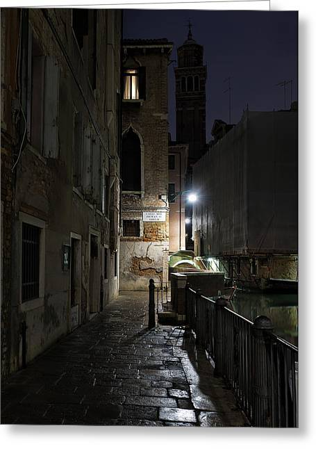 Greeting Card featuring the photograph Empire Of Venetian Light by Marion Galt
