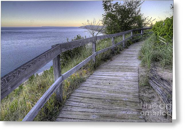 Empire Overlook At Dawn Greeting Card by Twenty Two North Photography