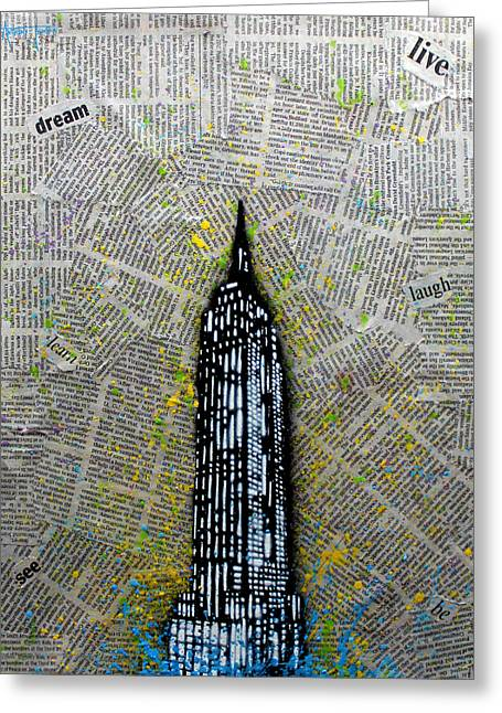 Empire State Bound Greeting Card by Anthony Jensen