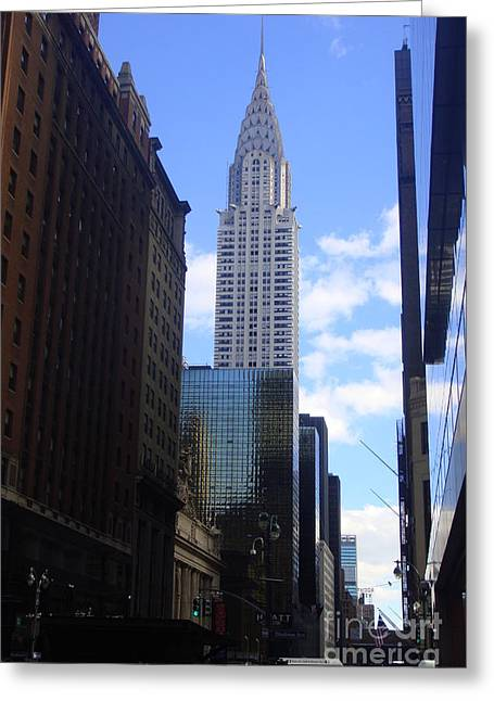Empire State Greeting Card by Brittany Perez