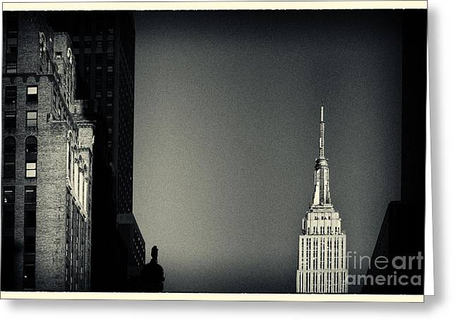 Empire State Building 2 New York City Greeting Card by Sabine Jacobs