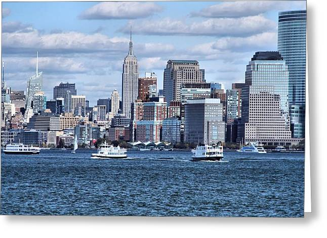 Empire State Building And Manhattan Skyline Greeting Card