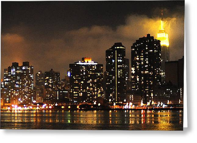 Empire State Building From Long Island City Greeting Card