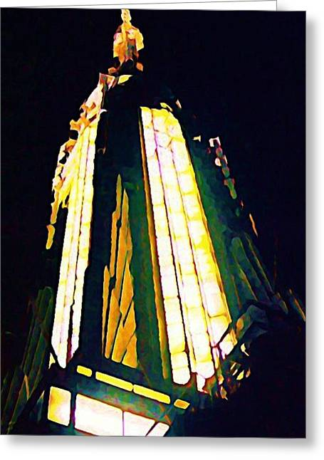 Empire State Building Greeting Card by John Malone