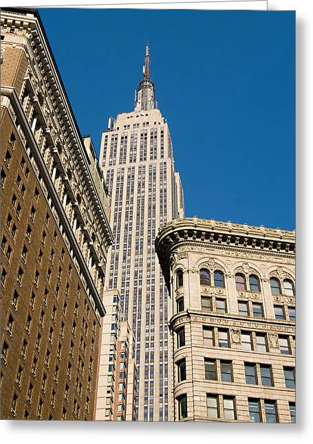 Greeting Card featuring the photograph Empire State Building by Michael Dorn
