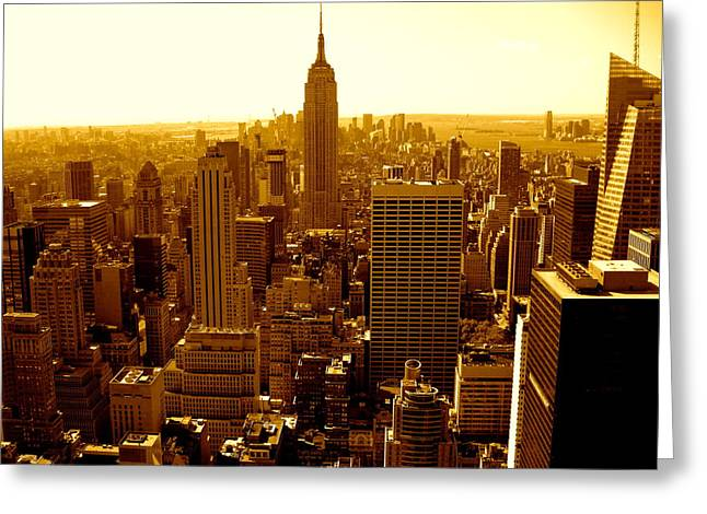 Manhattan And Empire State Building Greeting Card