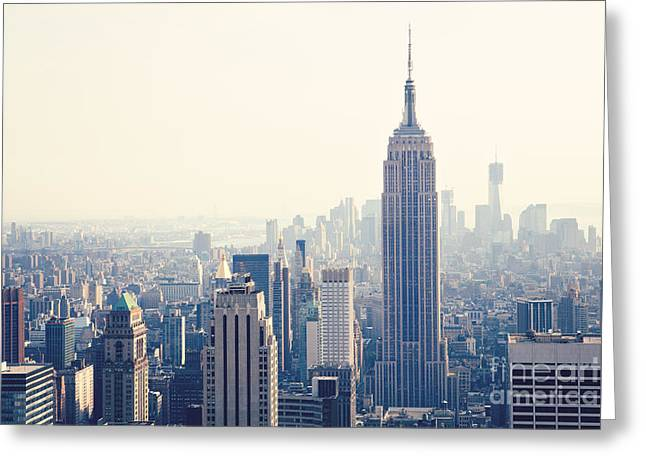 Empire State Building Nyc Greeting Card by Kim Fearheiley