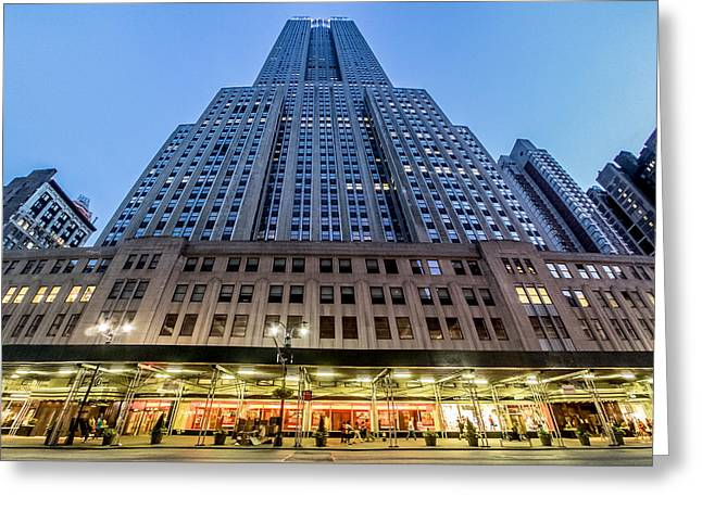 Greeting Card featuring the photograph Empire State Building by Steve Zimic