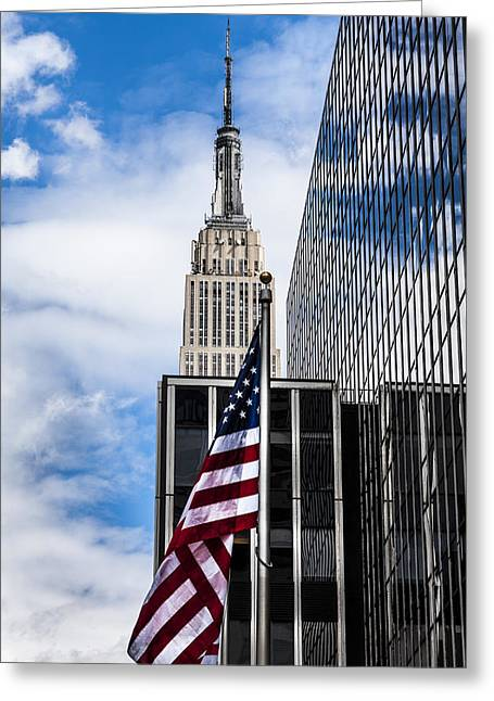 Empire State Greeting Card by Chris Halford