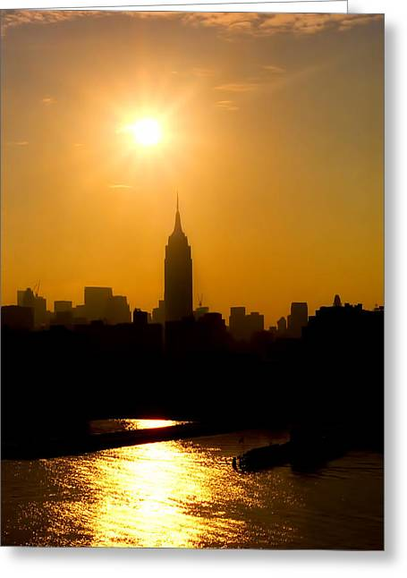 Empire Sunrise Greeting Card by Joann Vitali
