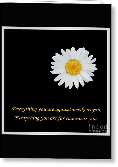 Empowerment Greeting Card by Barbara Griffin