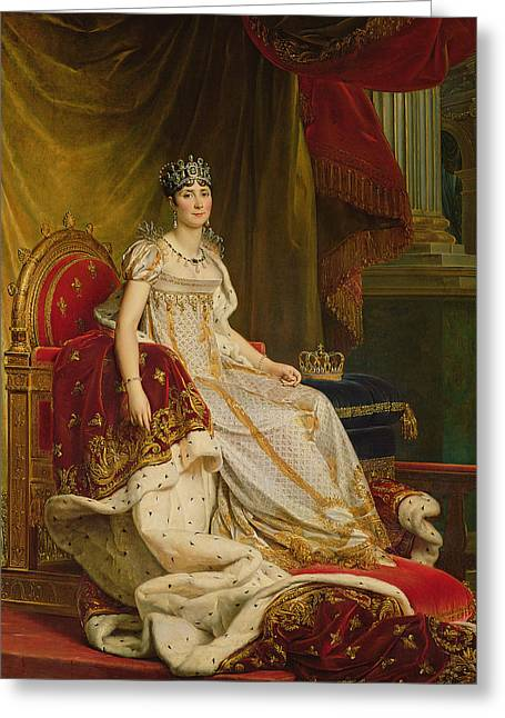Empress Josephine 1763-1814 1808 Oil On Canvas Greeting Card