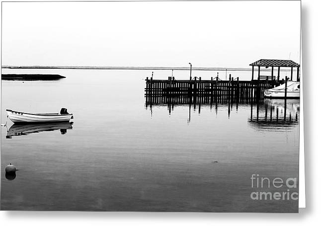 Emptiness At Long Beach Island Greeting Card by John Rizzuto