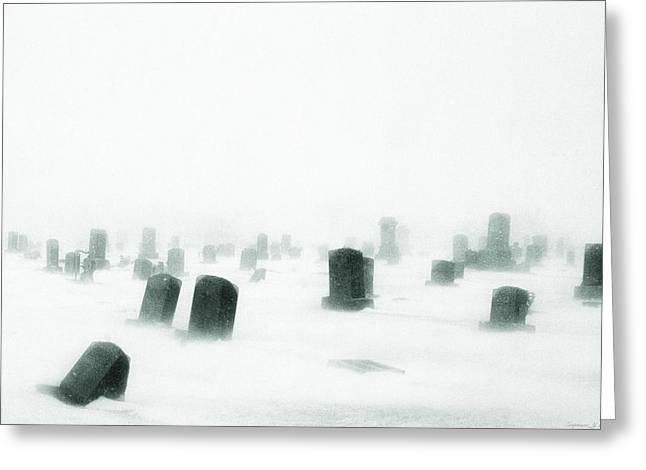 Greeting Card featuring the photograph Emptiness by Yvonne Emerson AKA RavenSoul