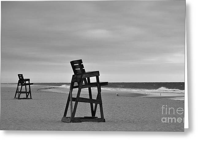 Empty Beach Greeting Card by Mark Miller